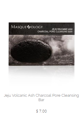 Masqueology Jeju Volcanic Ash Charcoal Pore Purifying Facial Bar