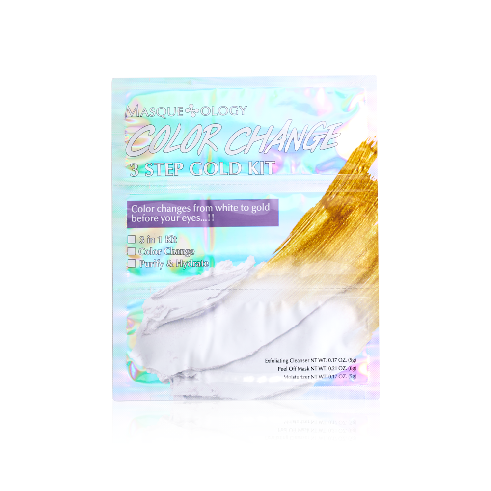 Color Change Gold Peel Off Mask Kit, Masqueology