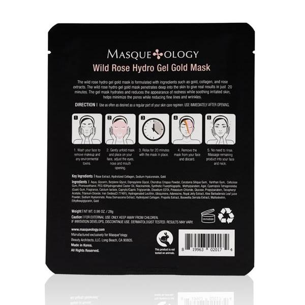 Wild Rose Hydro Gel Gold Mask by Masqueology