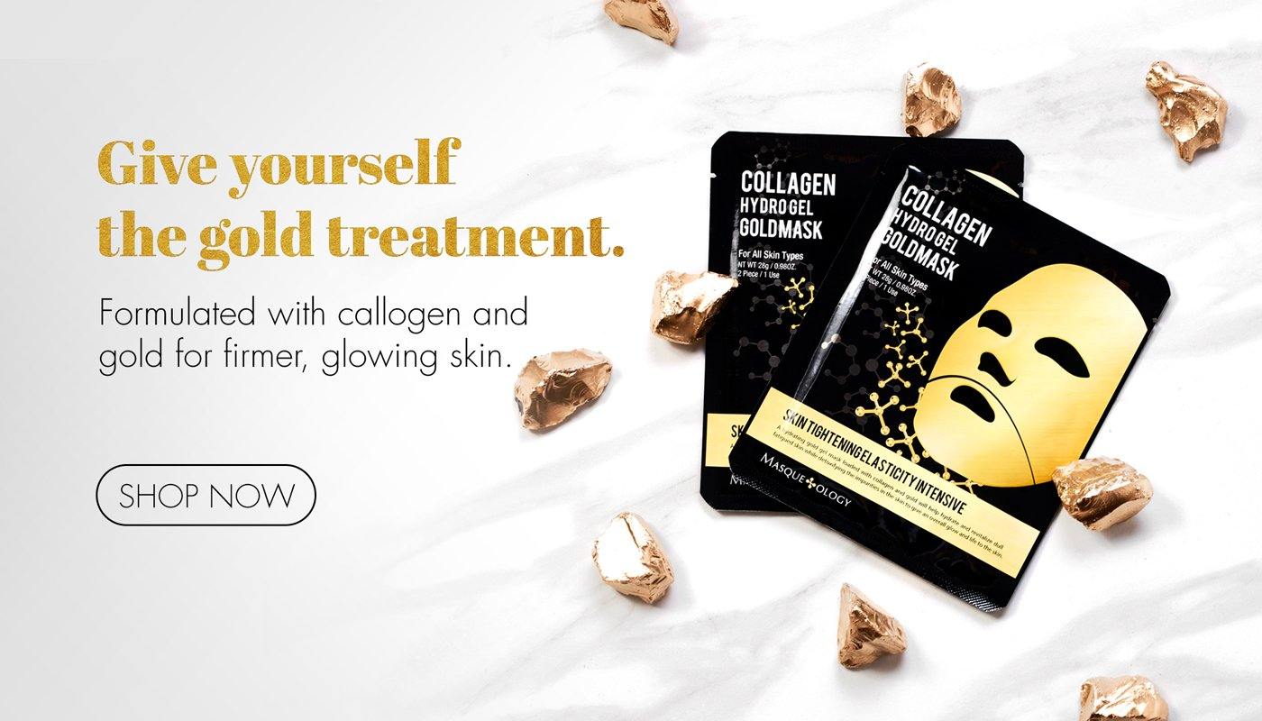 Masqueology Collagen Hydro Gel Gold Mask