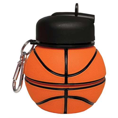 Basketball Silicone Collapsible Water Bottle