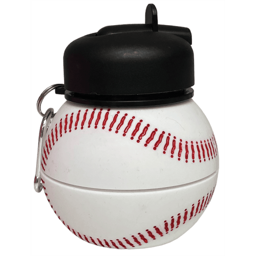 Baseball Silicone Collapsible Water Bottle