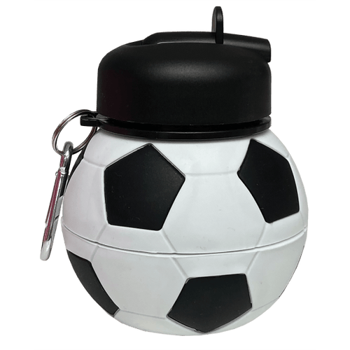 Soccer Silicone Collapsible Water Bottle