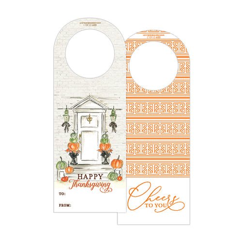 Happy Thanksgiving Front Door Wine Tag