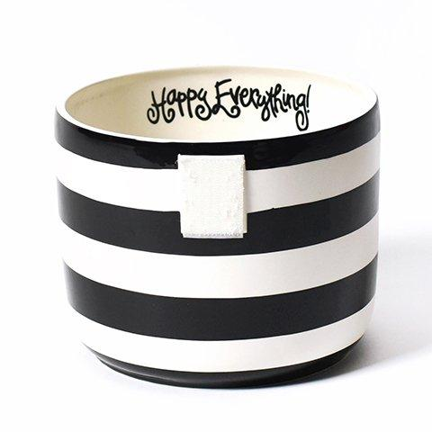 Black Stripe Happy Everything Mini Bowl