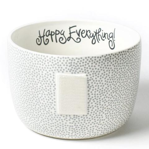 Stone Small Dot Happy Everything Big Bowl