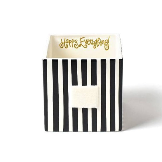 Black Stripe Medium Mini Nesting Cube