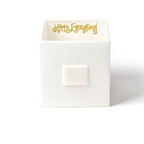 White Small Dot Medium Mini Nesting Cube