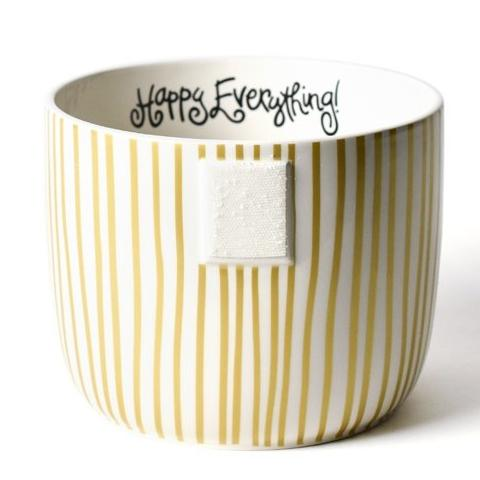 Gold Stripe Happy Everything Mini Bowl