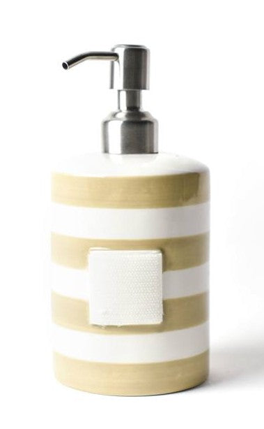 Neutral Stripe Mini Cylinder Soap Pump