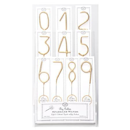 Sparkler Gold Candle ( numbers 0-9, star, heart)