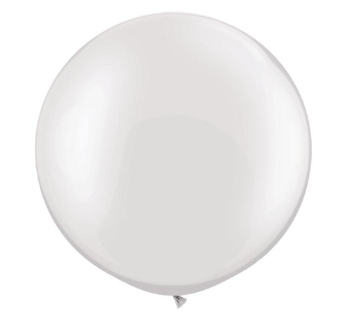 "30"" Pearl Balloon- White (helium inflated)"