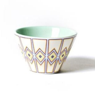 Indigo Retro Trim Mod Appetizer Bowl