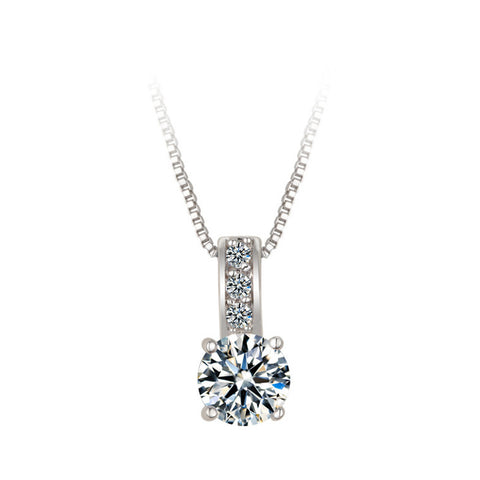 Royal 1.25 CT Four Stone Pendant Necklace