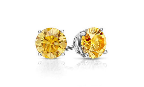Khloe 1CT Sterling Silver Citrine Stud Earrings