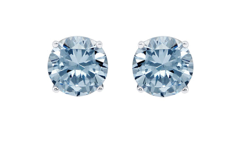 Khloe 1CT Sterling Silver Blue Topaz Stud Earrings