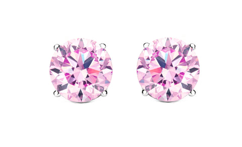 Khloe 1CT Sterling Silver Rose Quartz Stud Earrings