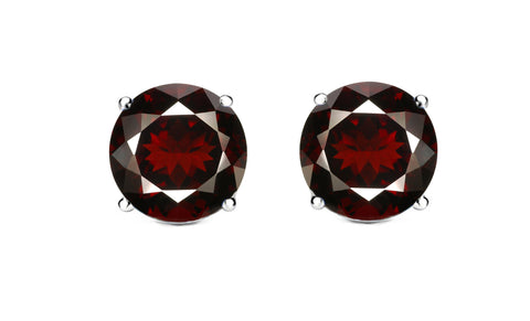 Khloe 1CT Sterling Silver Garnet Stud Earrings