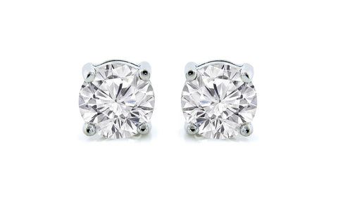 Khloe 1CT Sterling Silver White Sapphire Stud Earrings