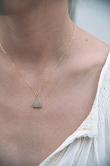 Kattilac Gems Druzy Triangle Necklace