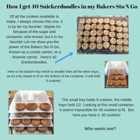 40 Snickerdoodles in the Bakers Sto N Go Stack-able food storage container