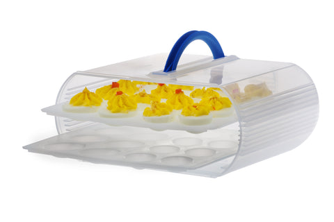 Deviled Eggs in the Baker Sto N Go stackable food storage container