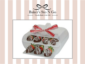 Chocolate covered strawberries in the American made Bakers Sto N Go.