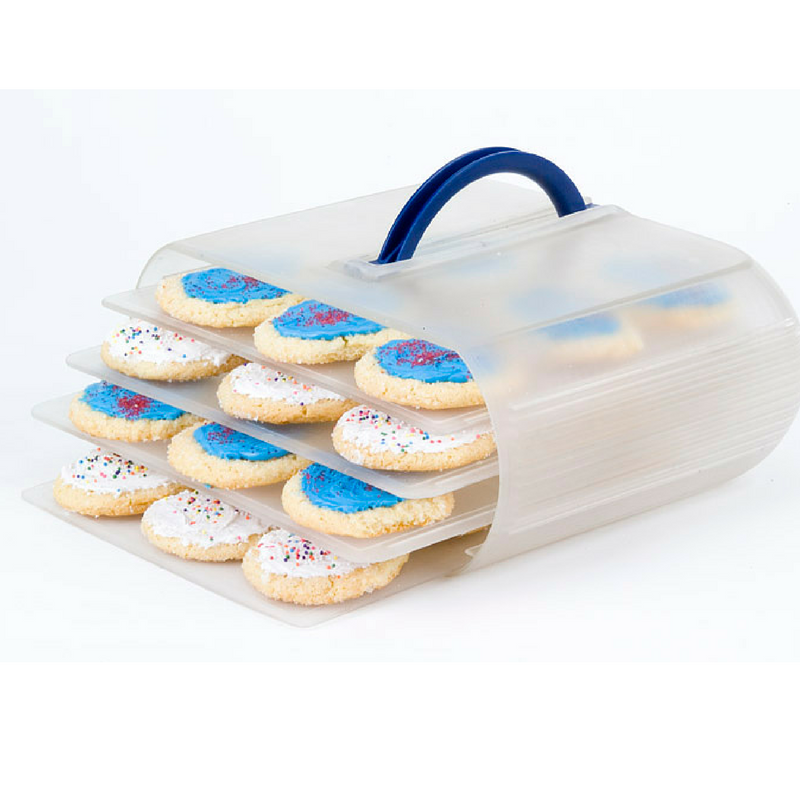 Americas #1 Cookie Carrier, a food storage container that will hold up to 40 cookies