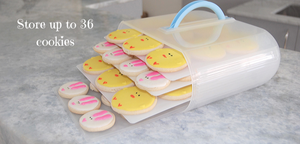 Best Cookie Carrier, great for 36 cookies, perfect for iced cookies