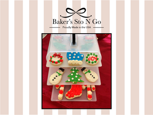 Best Christmas cookies in the cookie carrier.  Store all your iced cookies in the container.