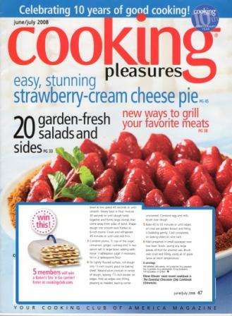 Cooking Pleasure Magazine featured Bakers Sto N Go food storage container.