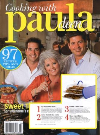Cooking with Paula Deen Magazine featured the Made in America Bakers Sto N Go food storage container