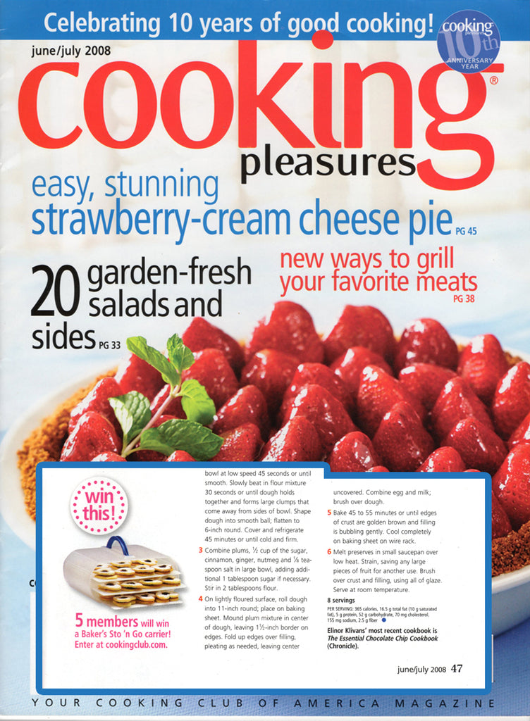 Perfect Cooking Pleasure Magazine Loves The Bakers Sto N Go Food Storage Container  Cookie Carrier Amazing Design