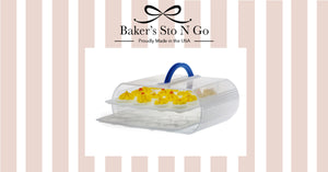 This american made product, Bakers Sto N Go, will hold 32 deviled eggs.  It becomes a deviled egg carrier or a deviled egg holder.  When you need help storing deviled eggs look use the Bakers Sto N Go.