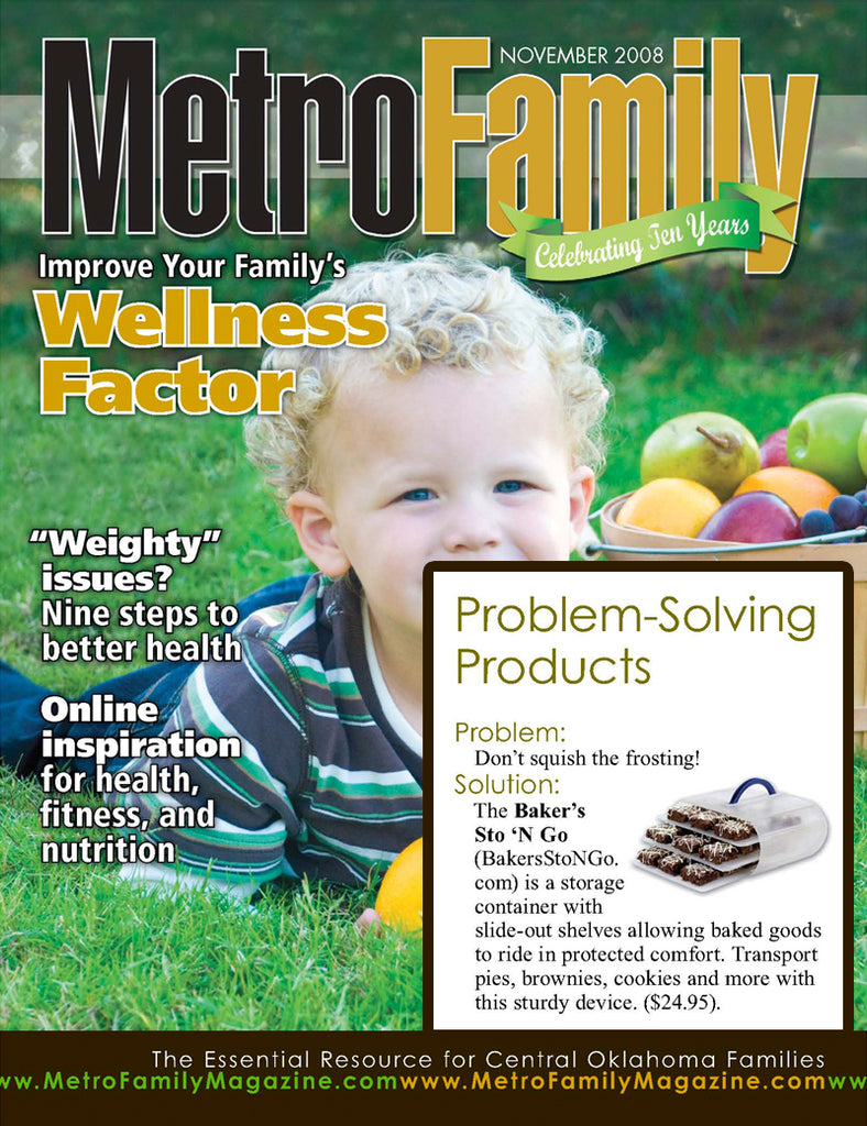 Metro Family Magazine Featuring the Bakers Sto N Go food storage container