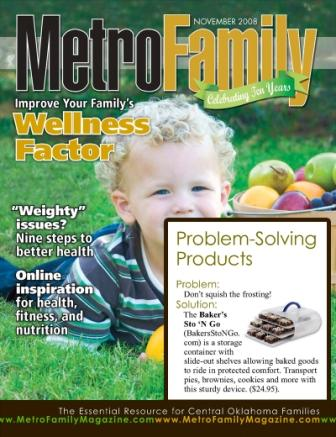 Metro Family Magazine featured the Made in America Bakers Sto N Go food storage container