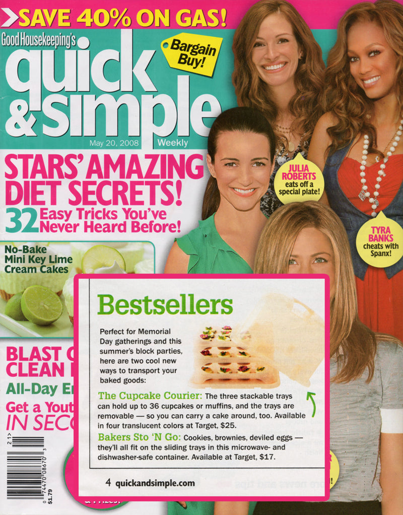 Quick & Simple magazine featuring the Bakers Sto N Go food storage container