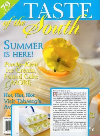 Taste of the South Magazine featured the Made in America Bakers Sto N Go food storage container