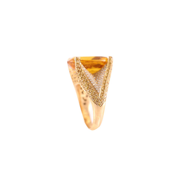 Citrine Diamond Ring Olympic Gold Jewelry Fine Jewelry Beverly Hills