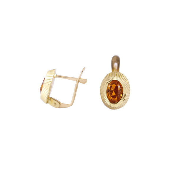 Citrine Gold Earrings Olympic Gold Jewelry Fine Jewelry Beverly Hills