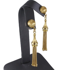 Gold Tassel Earrings Vintage Jewelry Olympic Gold and Jewelry Beverly Hills