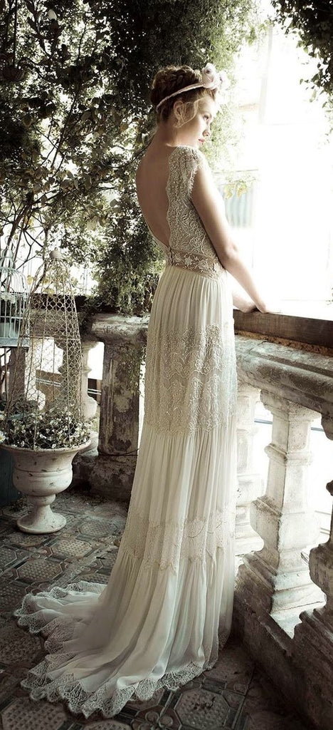 Vintage Wedding Dress Grecian Goddess Olympic Gold and Jewelry