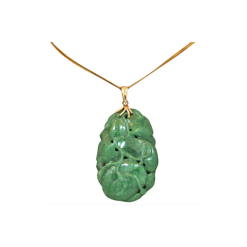 Jade necklace jade pendant and gold chain jade jewelry asian the eternal tree aloadofball Images