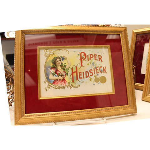 Original 'Piper Heidsieck' Cigar Label
