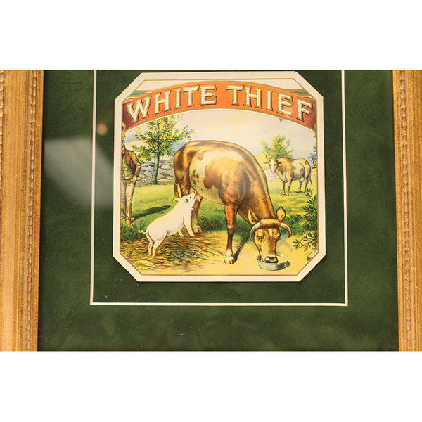 Original 'White Thief' Cigar Label