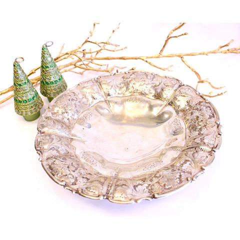 Antique Scalloped Silver Bowl