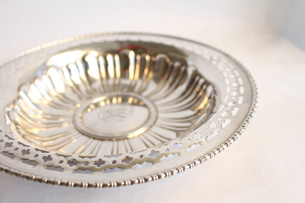 Antique Sterling Silver Reticulated Bowl
