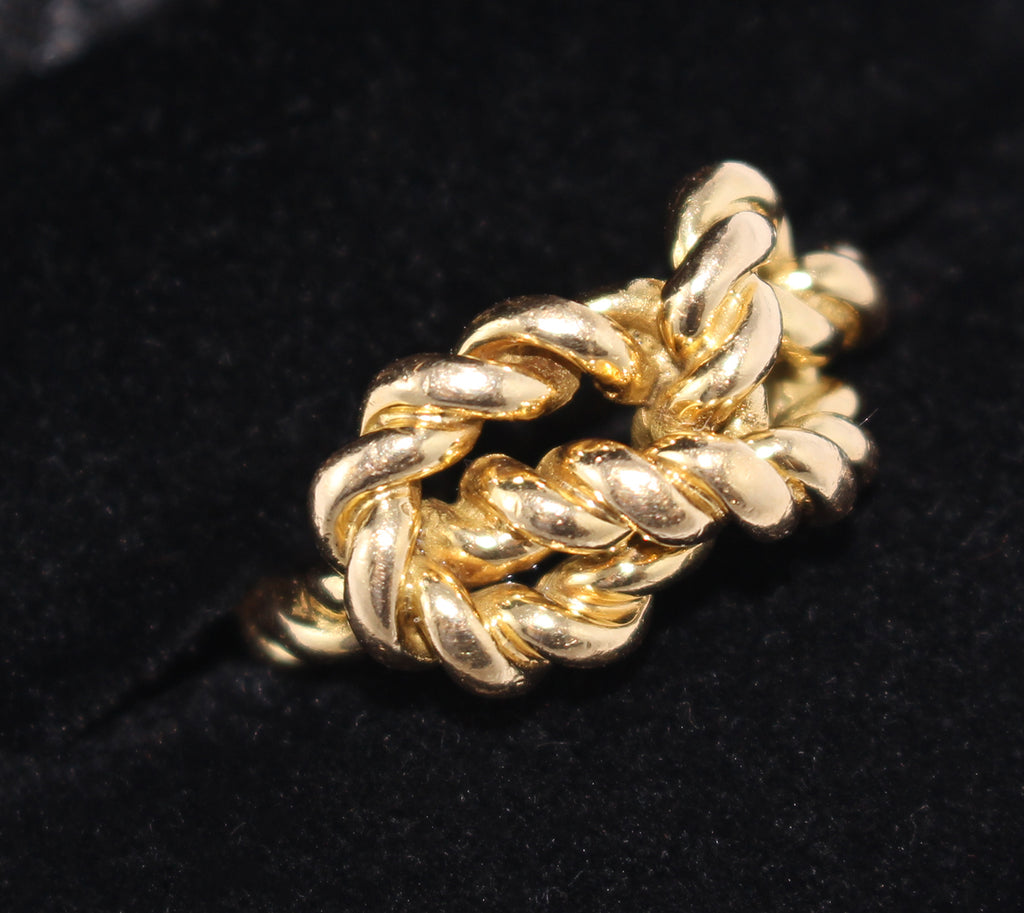 c469c6c82 Gucci Braided Love Knot Ring. Retro 1970's Gold Ring. Vintage Gucci ...