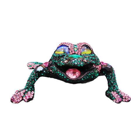 Crystal Encrusted Figurine Frog