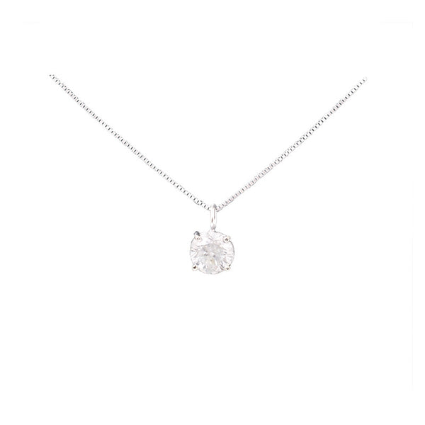 Diamond Pendant Solitaire Olympic Gold and Jewelry